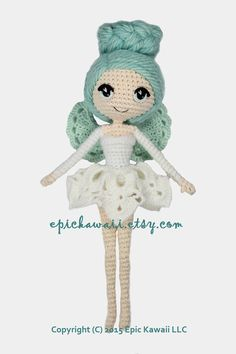 PATTERN: Luciella the Winter Fairy Crochet Amigurumi by epickawaii ♡