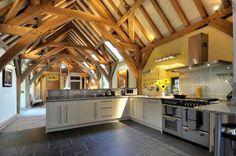 Beautiful barn conversion in Devon, England designed by architect Roderick James   Carpenter Oak.