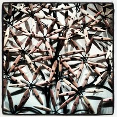 "@sparkygray's photo: ""Dotted Leaves #art #omni #dallas #texas #wood #dallasomni #leaves #lobbyart #dotted #spots"""