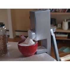 Hand Operated Grain Mill  Storing wheat berry is not useful unless you have one.