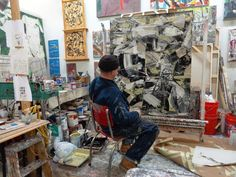 Matthew Dibble, Studio view- January 2013, Facebook