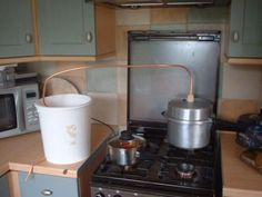No need to shell out for an expensive distilling still system. Make your own DIY pressure cooker still with a pressure cooker, some copper pipe and a bucket