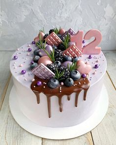 Dont you wish this would be your next birthday cake? Cake inspiration Place your order now! Slide into the dm. Cake Decorating Techniques, Cake Decorating Tips, Mini Cakes, Cupcake Cakes, Cake Cookies, Cute Birthday Cakes, Bolo Cake, Cute Desserts, Drip Cakes