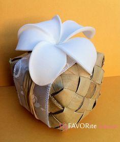 Hawaiian Wedding Favor Box Lauhala & by MyFAVORiteSourceHI, $5.50