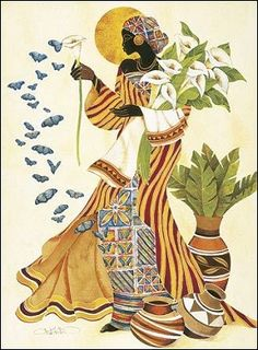 Soul's Awakening Art Print by Keith Mallett Black Art, Black Women Art, African American Art, American Artists, Costume Africain, Afrique Art, African Paintings, African Drawings, Canadian Art