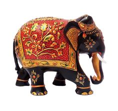 KH101Bwooden hand painted elephant Elephant India, Hand Carved, Hand Painted, Wooden Elephant, Wooden Statues, Wooden Hand, Stuffed Animal Patterns, Clay Art, Projects For Kids