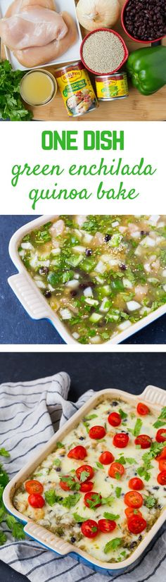 Easy to make in one pan, this green chile chicken quinoa casserole is a healthy, filling, and flavorful meal that everyone will love. Lunch Meal Prep, Easy Meal Prep, Easy Meals, Best Chicken Recipes, Best Dinner Recipes, Chile, Cooking Recipes, Healthy Recipes, Healthy Eats