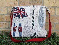 Purse medium sized crossbody bag with London by Enchantingcrafts, £25.00