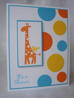 Bold Bright Baby Shower Invitation by mandypandy - Cards and Paper Crafts at Splitcoaststampers