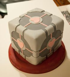 Portal Companion Cube Wedding Cake With LEGO Atlas & P-Body ...