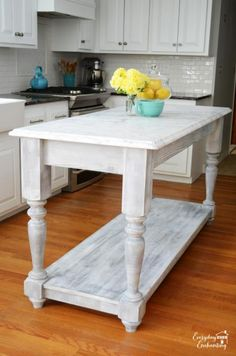 Modified Kitchen Island from the Handbuilt Home Island Plans | Do It Yourself Home Projects from Ana White