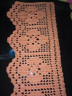 Crochet Lace Edging, Crochet Borders, Crochet Squares, Filet Crochet, Crochet Doilies, Easy Crochet, Stitch Patterns, Crochet Patterns, Crochet Table Runner