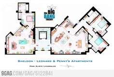 Sheldon & Leonard, Penny's Apartments from The Big Bang Theory :)