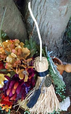 Morrighan Altar Besom Broom Samhain by ConjureShack on Amaranth