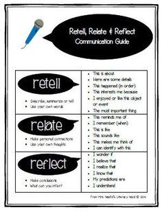 Retell, Relate, Reflect