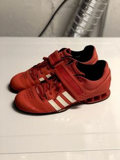 6704cae547aa ADIDAS ADIPOWER OLYMPIC WEIGHTLIFTING SHOES - MEN S 8.5 (V24382) RED  WHITE   fashion