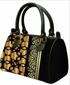 Latest black and golden  Digital Print Hand bag for only 1049/-