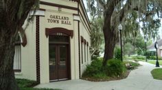Oakland, Florida is a small town two miles west of Winter Garden.  It is on the West Orange Trail along the south shore of Lake Apopka.