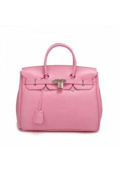 Medium Leather Bag Pink