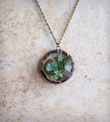 Lichen terrarium locket