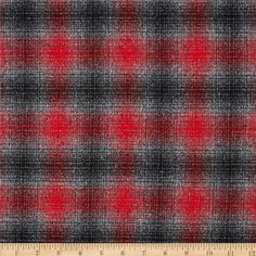 For fall outfit cardigan Kaufman Mammoth Flannel Plaid Platinum from @fabricdotcom%0A%0ADesigned for Robert Kaufman Fabrics, this soft double napped (brushed on both sides) medium weight (6.4 oz per square yard) flannel is perfect for shirts, loungewear and more! The flannel is a yarn dyed plaid of red, grey and black.