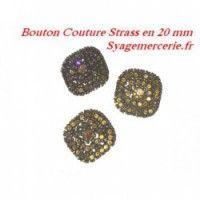 Bouton à coudre en strass de toute couleur et tpoute taille, décoratif - Syage Mercerie