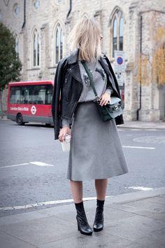 Barbour pullover // Zara skirt // Zara ankle boots // Pauw jacket // Proenza Schouler PS11 bag