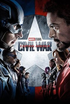 Directed by Anthony Russo, Joe Russo. With Chris Evans, Robert Downey Jr. Political involvement in the Avengers' affairs causes a rift between Captain America and Iron Man. Captain America Poster, Captain America Civil War, Captain Marvel, Steve Rogers, Anthony Russo, Joe Russo, Chris Evans, Avengers Film, The Avengers