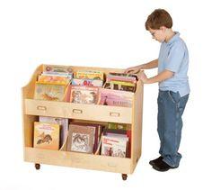Guidecraft Mobile Book Organizer - G6470