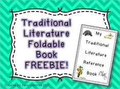 Help your students organize their notes on Traditional Literature with this fun book!   In this book you will find pages for fairy tales, myths, legends, fables, folk tales, tall tales, and a blank page if there is a special one that I missed. FREE
