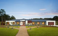 Modern Rancher House Plans - Modern Rancher House Plans , Acreage Home Designs for Modern Country Living with Metricon Two Story House Design, Modern House Design, Acerage Homes, Rancher House Plans, Franklin Homes, One Storey House, Facade House, House Facades, Storey Homes