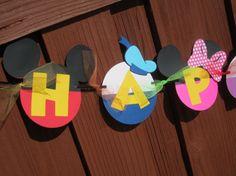 Decoraciones de Mickey Mouse Clubhouse por LittleBirdiPaperShop