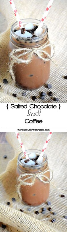 A coffee house inspired drink that is healthier and easier on your wallet, yet bursting with espresso, chocolate and a sprinkle of salt!