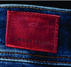 etiqueta de cintura cross jeans. Kasivleatherlabel