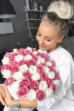 Messy buns and beautiful roses.