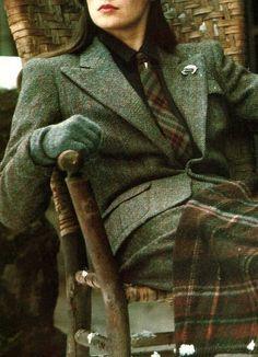 Ralph Lauren (detail) Women in tweed, tweed fashion for women. great, i like the…