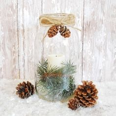 Create a Pottery Barn inspired mason jar for a fraction of the price.
