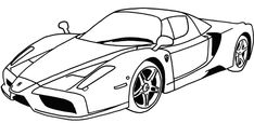 Ferrari Car Coloring Pages for Kids