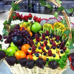 Edible fruit basket