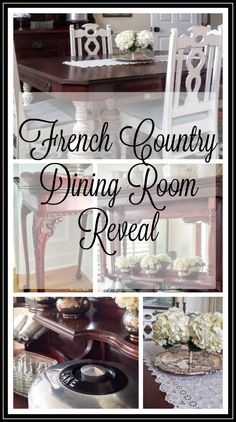French Country Dining Room Makeover 1890s Buffet Server Decor Thetatteredrabbit