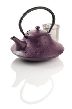 Stars and Mountain Purple Cast Iron Teapot...may be one of the cutest tea pots I have ever seen!!!!