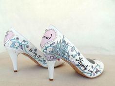 Little mermaid Arielle wedding shoes :) Handpainted Custom Design Wedding Shoes by KUKLAfashiondesign