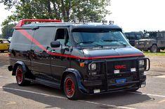 Chevrolet Van, Mini Vans, Chevy Trucks, A Team Van, Gmc Vans, Camping Car, Custom Vans, The A Team, Dream Cars