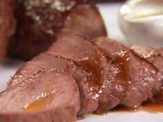 Get Pork Tenderloin with Apple Cider Reduction Recipe from Food Network