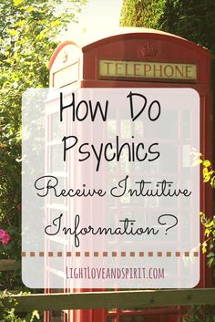 How do psychics, mediums, and intuitive receive the information they bring through? - Pinned by The Mystic's Emporium on Etsy