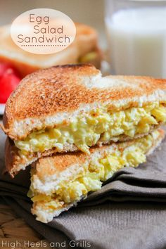 Best egg salad sandwich ever made. #recipe # lunch http://www.highheelsandgrills.com/2013/07/egg-salad-sandwich.html