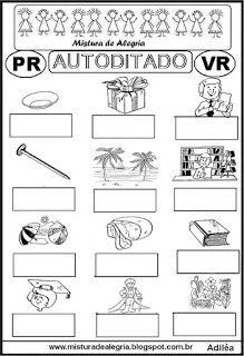 Autoditado para alfabetização com pr,vr