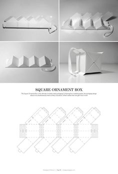 Square Ornament Box – FREE resource for structural packaging design dielines: