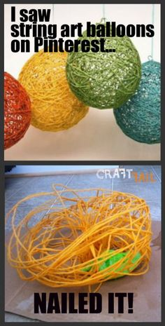string art balloons - nailed it! BC: At least yours wasn't like this!