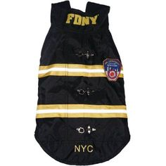 Royal Animals Fdny Water-Resistant Dog Coat, Black